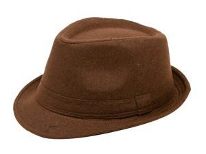 Simplicity Men's Wool Felt Fedora Hat Luxuriant Classical Brown Color Triby Hat
