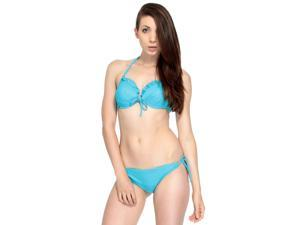 Simplicity Women's Cocktails by the Pool Strappy Sides Bikini Set Swimwear Swimsuit