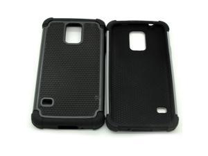 Heavy Duty Impact Rugged Hard Case Cover for Samsung Galaxy S5 i9600 SV - Gray