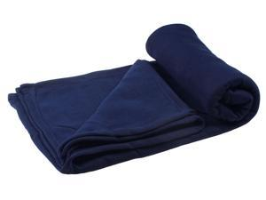 Simplicity Super Soft Cozy Warm Cotton Blankets Throws Navy