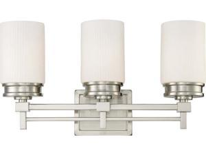 Nuvo Wright - 3 Light Vanity Fixture w/ Satin White Glass