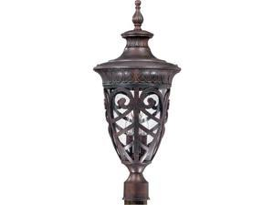 Nuvo Aston - 3 Light Large Post Lantern w/ Seeded Glass
