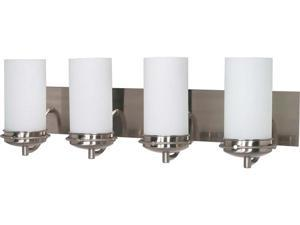 Nuvo Polaris - 4 Light - 30 inch - Vanity - w/ Satin Frosted Glass Shades