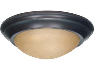 Nuvo 3 Light 17 inch Flush Mount Twist & Lock w/ Champagne Glass - (3) 13w GU24 Lamps Incl.