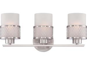 Nuvo Fusion - 3 Light Vanity Fixture w/ Frosted Glass