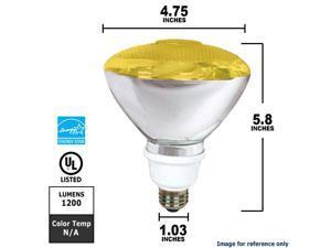 100-Watt Par 38 Outdoor Compact Fluorescent Light Bulb, Yellow Feit Electric