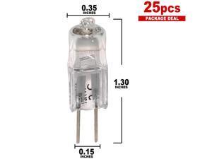 BulbAmerica 64258 HLX 20 watts 12 volts G4 2-Pin Halogen light Bulb x 25 pack