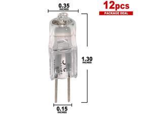BulbAmerica 64258 HLX 20 watts 12 volts G4 2-Pin Halogen light Bulb x 12 pack