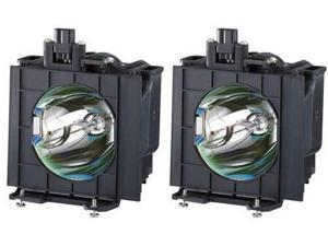 Panasonic PTDW5100 DLP Video Projector Assembly OEM Compatible Twin-Pack Bulbs