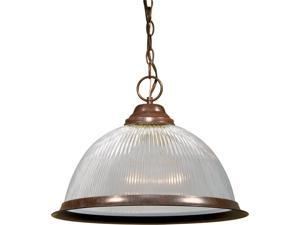 "1 Light - 15"" - Pendant - Clear Prismatic Dome"