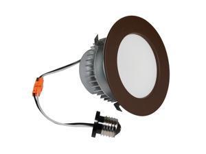 4-Inch E-Pro Dark Bronze 3000 Kelvin LED Recessed Down Light