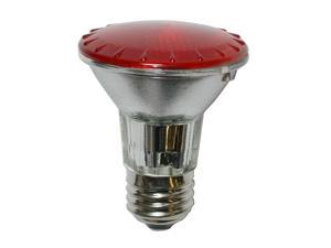 BulbAmerica 50W 120V PAR20 Narrow Flood Red Halogen Bulb