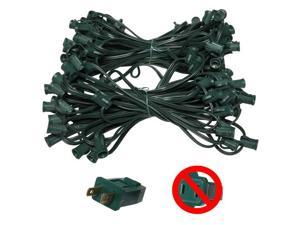 "C7 Light Stringer, 119 Ft. Length, 12"" Spacing, 7 Amp SPT1 Green Wire"