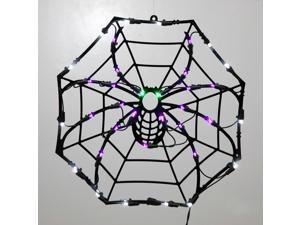 35 Lights 17x17in. Spider Web Window Led Decor Halloween Set