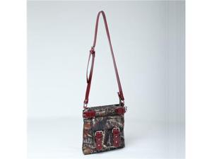 Licensed Mossy Oak Camouflage Western Purse Messenger Cross Body Bag