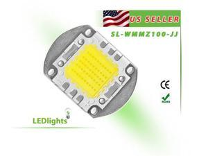 LED Light 100W White High Power Cool White Component Chip 100 Watt 8000 lm USA