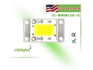 LED Light 30W White High Power Cool White Component Chip DIY 30 Watt 2500 lm USA