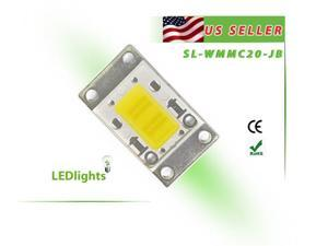 20W White LED Light High Power Cool White Component Chip DIY 20 Watt 1600 lm USA