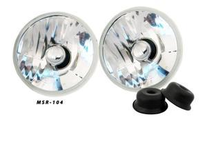 5 3/4 inch Round Crystal Clear Premium Headlights Upgrade 4000 4040 5506 H5006