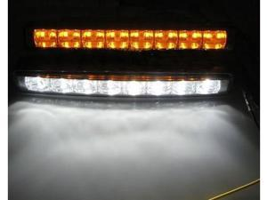 LED DRL Fog Light with Amber Turn Signal Function Blink