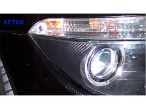 BMW E63/E64 6 Series M6 Headlight Corner Lens Vinyl Sticker (Carbon)