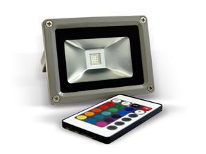 Genssi 10W RGB Flood Lights with Remote Control and Plug n Play Power Plug