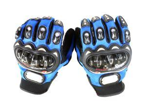 Carbon Fiber Pro-Biker Bike Motorcycle Motorbike Racing Gloves (Available in Blue, Black & Red colors and M, L & XL sizes)