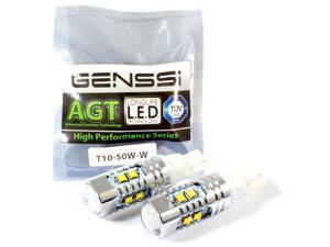 GENSSI 921 50W CREE Car Reverse Backup LED Light Bulb T10 (Pack of 2)