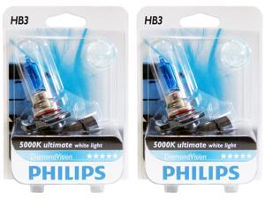 2x PHILIPS Diamond Vision 5000k Headlight Light Bulb HB3/9005 - Authentic Germany