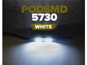 GENSSI POD SMD 2 LED 5730 Wide Angle Module Waterproof 12V Edge Cabinet Strip / Automotive Lighting (4 Pack) (White)