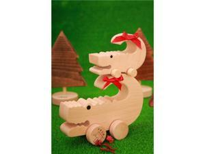 Wooden Animal Car - Crocodile Family (DIY) - Beech Wood, Paintable (2 in a Box)