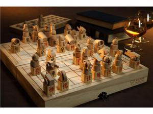 Hand-Made Wooden 3D Chinese Chess