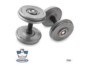 32.5  LB   Gray Pro-Style Dumbbells with urethane Snug-Grip handles