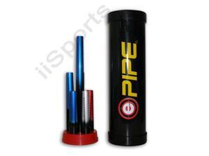 "Evil Paintball PIPE 6 Ported Barrel Fronts Tips Set: Blue Red Silver/Black 10"" 12"" 16"""
