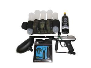 Spyder VS2 Electronic Paintball Gun + Custom EVIL Barrel Tank Pack Hopper Set!!