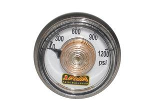 "Paintball Gun CO2 HPA Air Gas Tank Reg Micro Gauge 0-1200 psi 1"" diameter 1/8"" NPT"