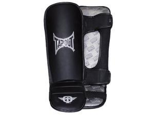 TapouT UFC Grappling MMA Leather Shin Instep Guards SMALL/MEDIUM Pair muay thai brazilian jiu jitsu