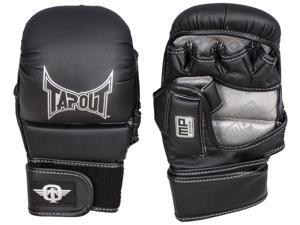 TapouT Elite Grappling MMA Striking Training Gloves Open Finger Extra Large XL Black pair