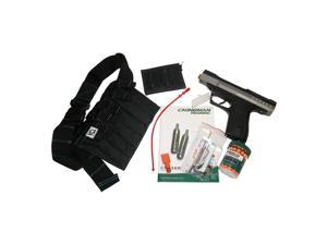KT Kingman Training Eraser Heavyduty 11mm/.43cal Paintball Pistol + Utility Belt SET TITANIUM