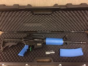 TM4 T4E Ram .43 caliber 11mm M4 Paintball Assault Rifle Black Blue law enforcement milsim security