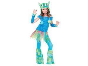 Girls Blue Monster Costume