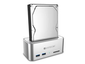 Satechi Aluminum USB 3.0 SATA III HDD Docking Station with 2-Port Hub and SD Card Reader