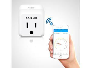 Satechi IQ Plug Bluetooth 4.0 Wireless App-Controlled Smart Meter for iPhone 6 Plus/6/5S/5C, iPod Touch 5G/4G, iPad Air 2/Air/Mini/3/2/1