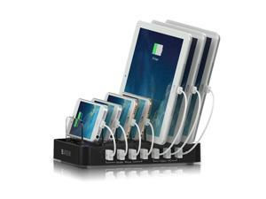 Satechi 7-Port USB Charging Station Dock for iPhone 6 Plus/6/5S/5C/5/4S, iPad Air/Mini/3/2/1, Samsung Galaxy S5/S4/S3/Note/Note2/Tab, iPod, Nexus, HTC, and more