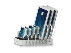 Satechi 7-Port USB Charging Station Dock for iPhone 6 Plus/6/5S/5C/5/4S, iPad Air/Mini/3/2/1, Samsung Galaxy S5/S4/S3/Note/Note2/Tab, iPod, Nexus, HTC, and more (White)