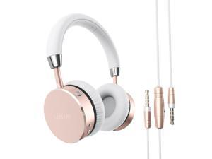 Satechi Aluminum Bluetooth Wireless Headphones with 3.5mm Audio-out Jack - Features Enhanced Bass (Rose Gold)
