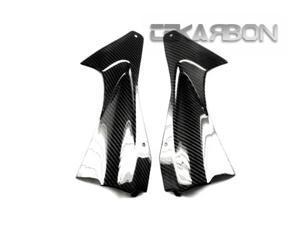 2006 - 2007 Yamaha R6 Carbon Fiber Air Intake Covers - 2X2 Twill