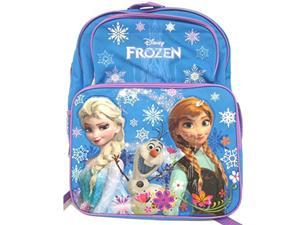 Disney Frozen Princess Elsa and Ann Cargo School Backpack Bag - 16 Inch Large Size