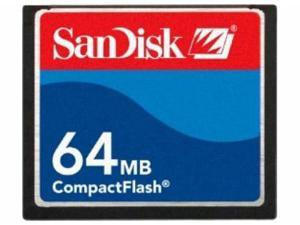 SanDisk 64MB Compact Flash (CF) Flash Card Model SDCFB-64-A10
