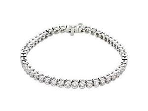 A Fetching Diamond Tennis Bracelet Length=7.25
